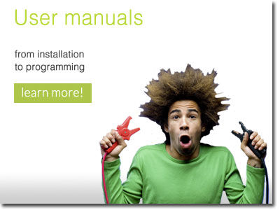 User manuals - from installation to programming