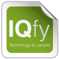 IQfy - simply clever - Logo