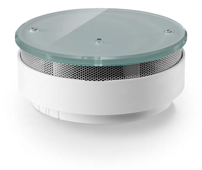 funk rauchwarnmelder flat glas wei iqfy. Black Bedroom Furniture Sets. Home Design Ideas